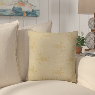 Sunbury Sea Turtle Throw Pillow Size: 24 x 24, Color: Tropic / Warm Yellow