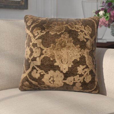 Dietrich Throw Pillow Size: 18 H x 18 W x 6 D, Color: Dark Taupe