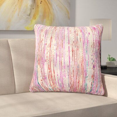 Gagne Throw Pillow Color: Red/Multi