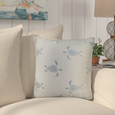 Sunbury Sea Turtle Throw Pillow Size: 18 x 18, Color: Surf / Blue