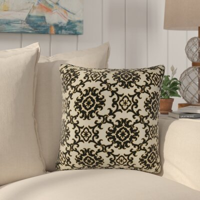 Sunbury Medallion Indoor/Outdoor Throw Pillow Size: 17 H x 17 W x 4 D, Color: Black