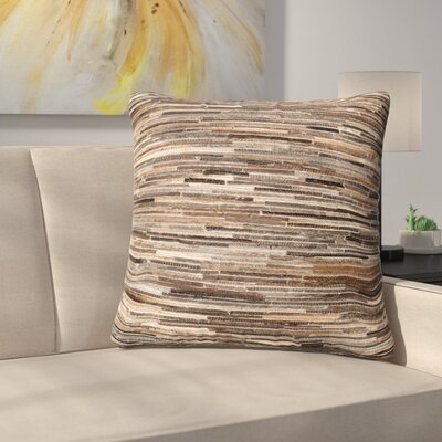 Griess Throw Pillow Color: Brown
