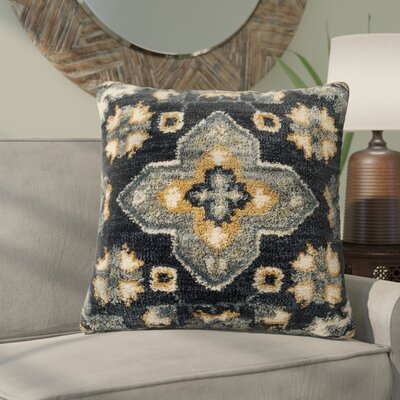 Wydra Throw Pillow Color: Blue/Multi