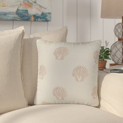 Benat Scallop Indoor/Outdoor Throw Pillow Size: 17 H x 17 W x 4 D, Color: Blue