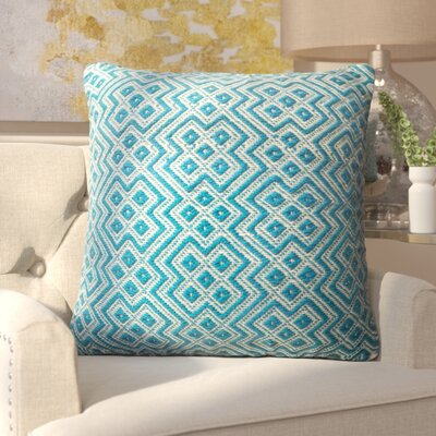 Halewood Outdoor Throw Pillow Color: Blue