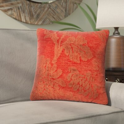 Wycoff Throw Pillow Size: 18 H x 18 W x 6 D, Color: Coral