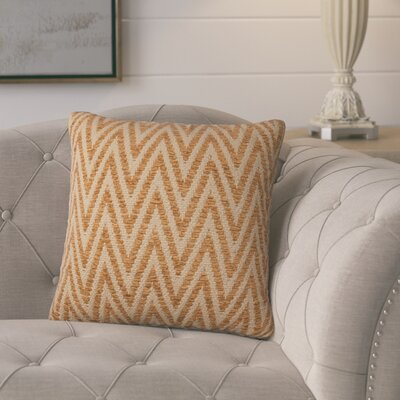 Moiseiev Throw Pillow Size: 18 H x 18 W x 6 D, Color: Persimmon
