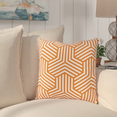 Fentress Throw Pillow Size: 16 x 16, Color: Orange