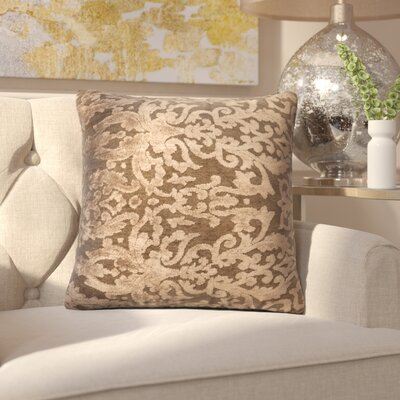 Nostrand Throw Pillow Size: 18 H x 18 W x 6 D, Color: Coffee