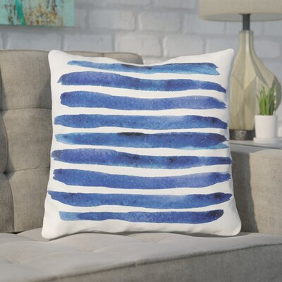 Gangemi Stripe Throw Pillow Size: 18x 18