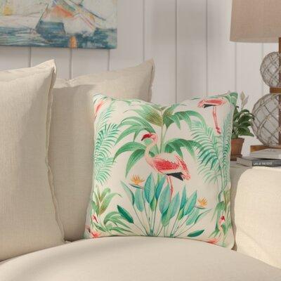 Sherwick Flamingo Palms Throw Pillow