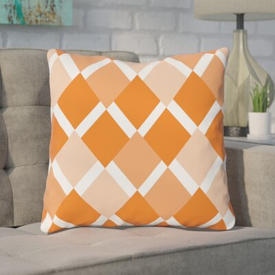 Van Cleef Throw Pillow Size: 16 x 16, Color: Orange