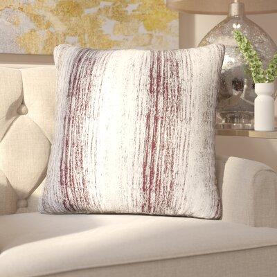 Hunsberger Jacquard Throw Pillow Color: Oxblood Gold
