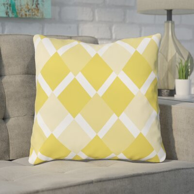 Van Cleef Throw Pillow Size: 18 x 18, Color: Yellow