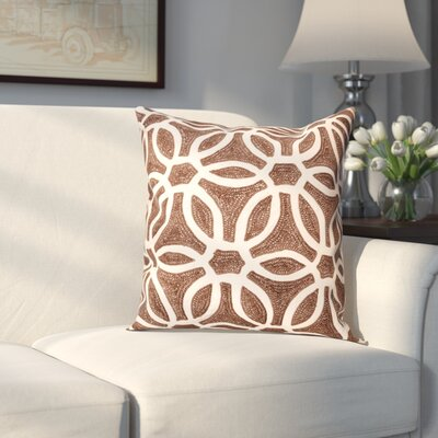 Kingswood Throw Pillow Color: Brown/Beige