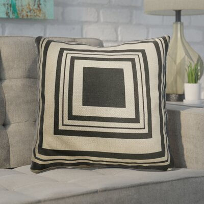 Leddy Checkered Black Throw Pillow