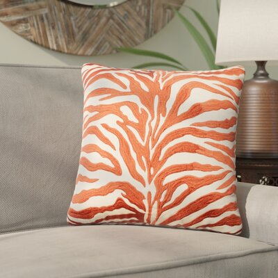 Yarbrough Throw Pillow Color: Rust/Beige
