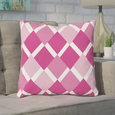 Van Cleef Throw Pillow Size: 18 x 18, Color: Pink