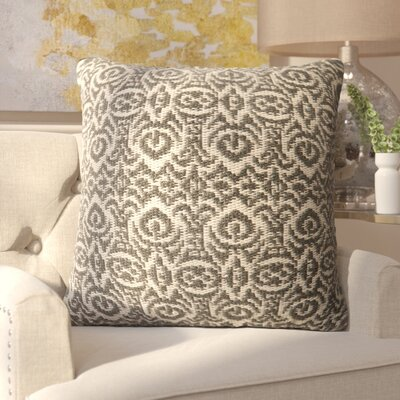 Tickhill Indoor/Outdoor Throw Pillow Color: Gray/Ivory