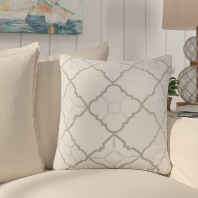 Agathe Printed Cotton Throw Pillow Color: Gray