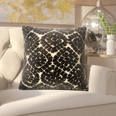 Laverton Embroidered Cotton Throw Pillow