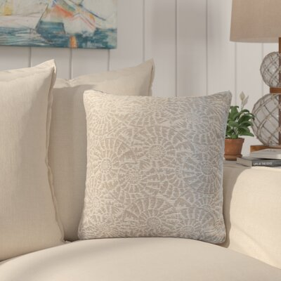 Sunbury Tide Pool Throw Pillow Size: 18 x 18, Color: Cove / Shimmering Silver