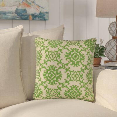 Sunbury Medallion Indoor/Outdoor Throw Pillow Size: 24 H x 24 W x 5 D, Color: Green