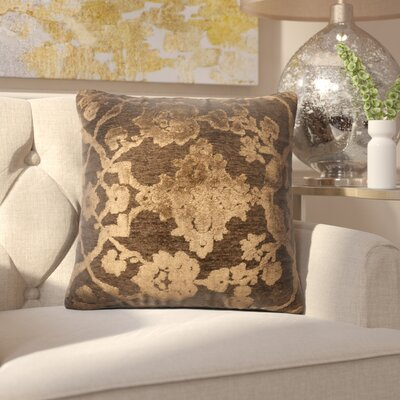 North Point Throw Pillow Size: 18 H x 18 W x 6 D, Color: Dark Taupe