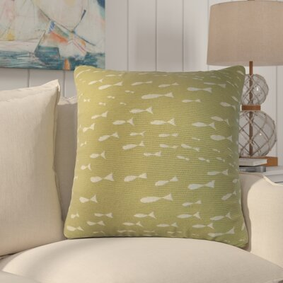 Sunbury Minnow Throw Pillow Size: 24 x 24, Color: Sea Grass / Green
