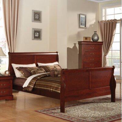 Alva III Queen Sleigh Bed Color: Cherry