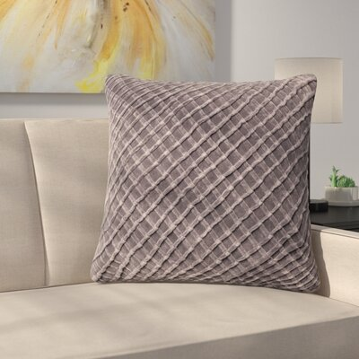 Lao Velvet Throw Pillow Color: Chorcoal