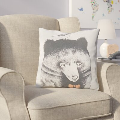 Cooke Bear and Bird Cotton Throw Pillow