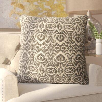 Wincanton Outdoor Throw Pillow Color: Gray / Beige