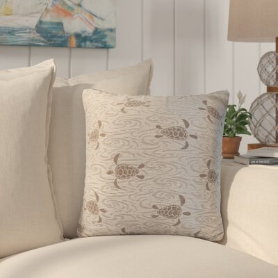 Sunbury Sea Turtle Throw Pillow Size: 24 x 24, Color: Pebble Beach / Chocolate