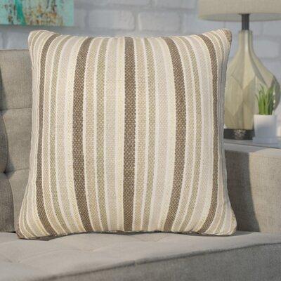 Mastropietro Stripe Foil Printed Cotton Throw Pillow Color: Antique White Gold