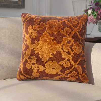 Dietrich Throw Pillow Size: 18 H x 18 W x 6 D, Color: Tomato