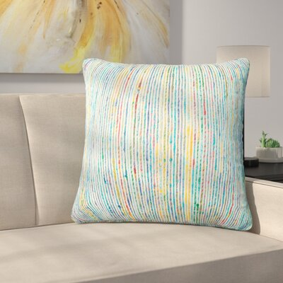 Gagne Throw Pillow Color: Blue/Multi