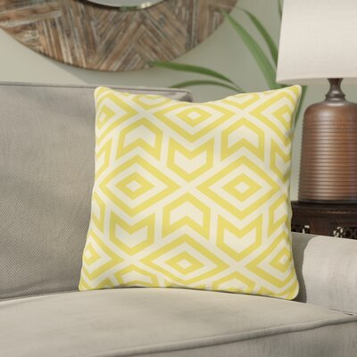 Gerson Throw Pillow Size: 16 x 16, Color: Yellow