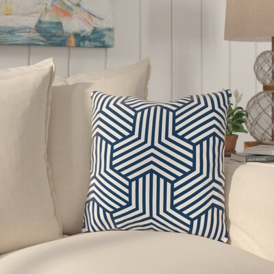 Fentress Throw Pillow Size: 18 x 18, Color: Navy Blue