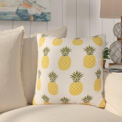 Kouba Pineapple Printed Cotton Throw Pillow