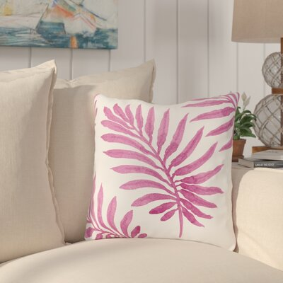 Morganton Palm Throw Pillow Size: 18 x 18, Color: Pink