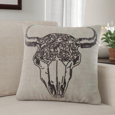 Baldwin Cow Skull Sequin Elegent Throw Pillow
