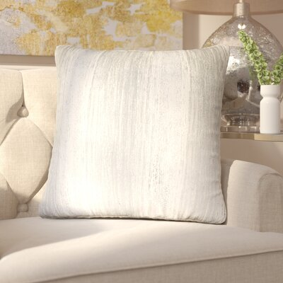 Hunsberger Jacquard Throw Pillow Color: Silver Silver