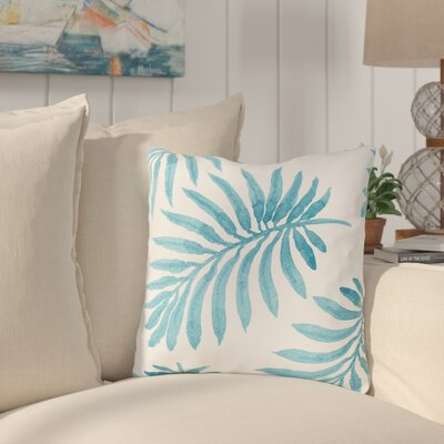 Morganton Palm Throw Pillow Size: 18 x 18, Color: Blue