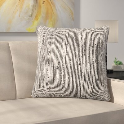 Gagne Throw Pillow Color: Black/Multi