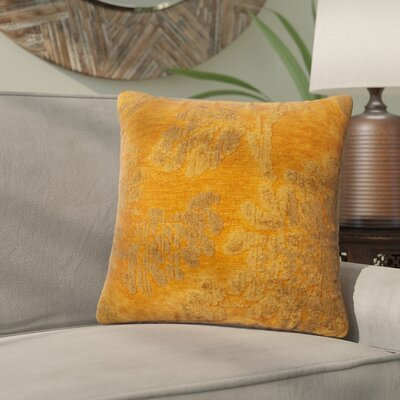 Wycoff Throw Pillow Size: 18 H x 18 W x 6 D, Color: Aura