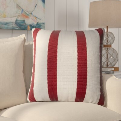 Vivanco Indoor/Outdoor Throw Pillow Color: Red/Ivory