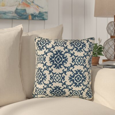 Sunbury Medallion Indoor/Outdoor Throw Pillow Size: 24 H x 24 W x 5 D, Color: Blue