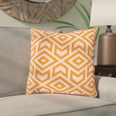 Gerson Throw Pillow Size: 16 x 16, Color: Orange
