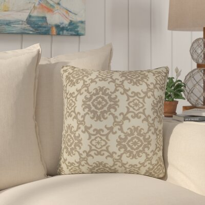 Sunbury Medallion Indoor/Outdoor Throw Pillow Size: 24 H x 24 W x 5 D, Color: Sand